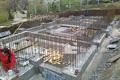 Изграждане на стоманобетонния фундамент на сградата. Обект: Банкя