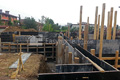 Изграждане на фундамента – вертикален кофраж. Обект: Горна Баня