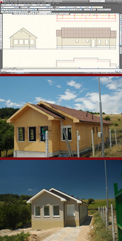 Идеята, Строителството, Домът