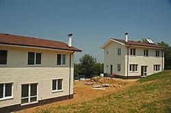Фасади изпълнени с винилов сайдинг